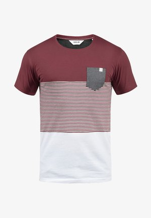 Print T-shirt - wine red