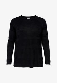ONLY Carmakoma - CARAIRPLAIN PULLOVER - Jumper - black - 4
