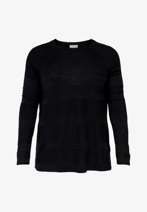 CARAIRPLAIN PULLOVER - Jumper - black