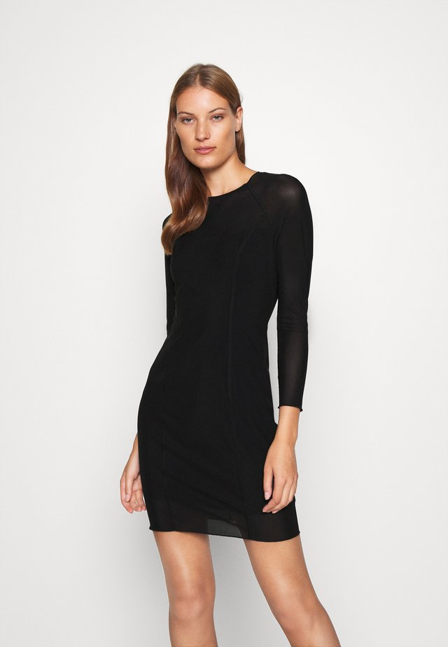 DOUBLE LAYER DRESS - Vestito estivo - black