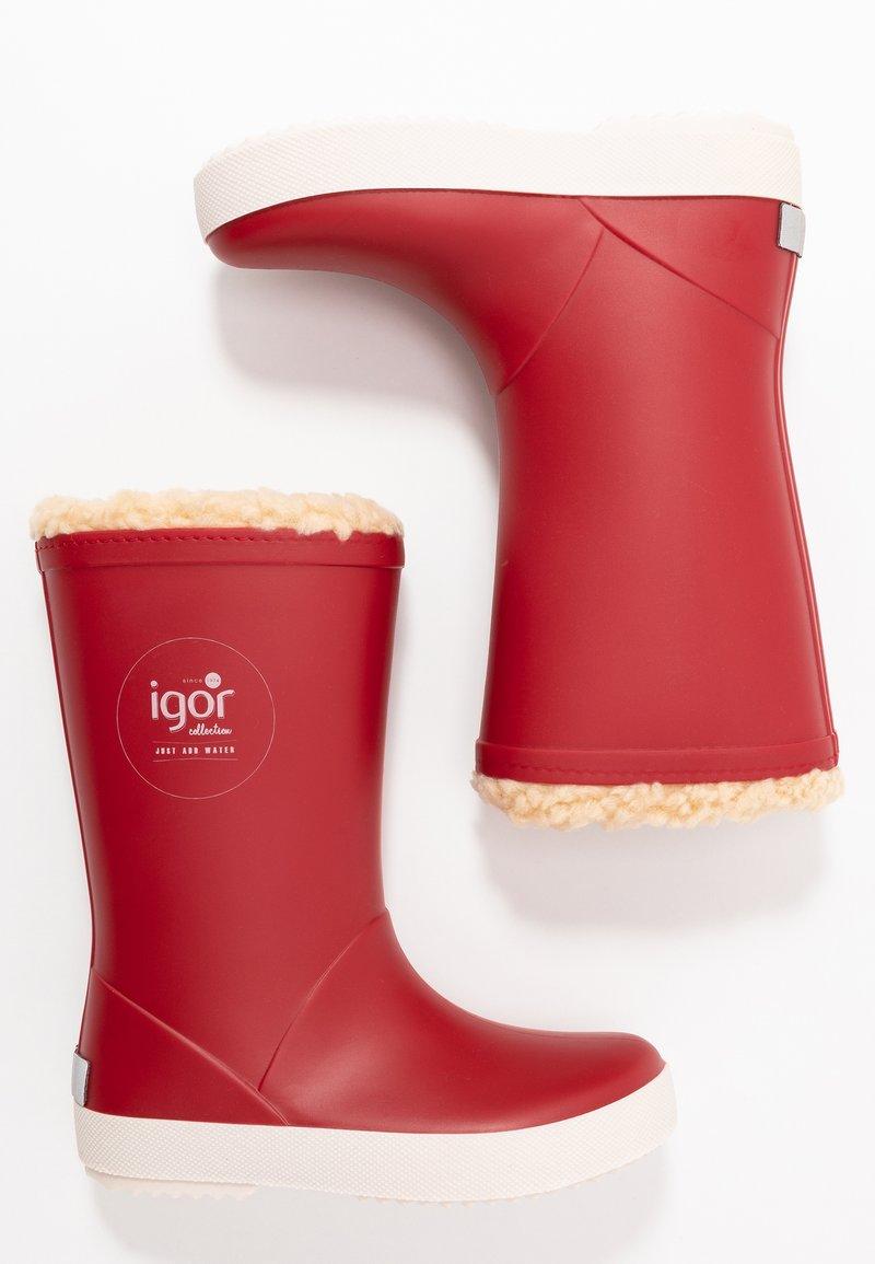 IGOR - SPLASH NAUTICO BORREGUITO - Stivali di gomma - rojo/red