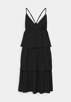 VMKIMBER SINGLET KNEE DRESS - Day dress - black