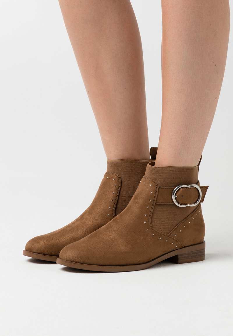 ONLY SHOES - ONLBOBBY LIFE BUCKLE BOOT  - Classic ankle boots - cognac