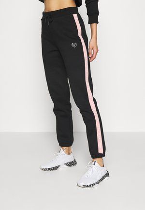 FULLER TAPE - Trainingsbroek - black/pink