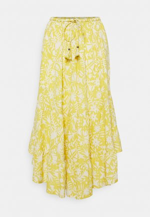 OTOMI TIERED SKIRT - A-line skirt - lemon yellow
