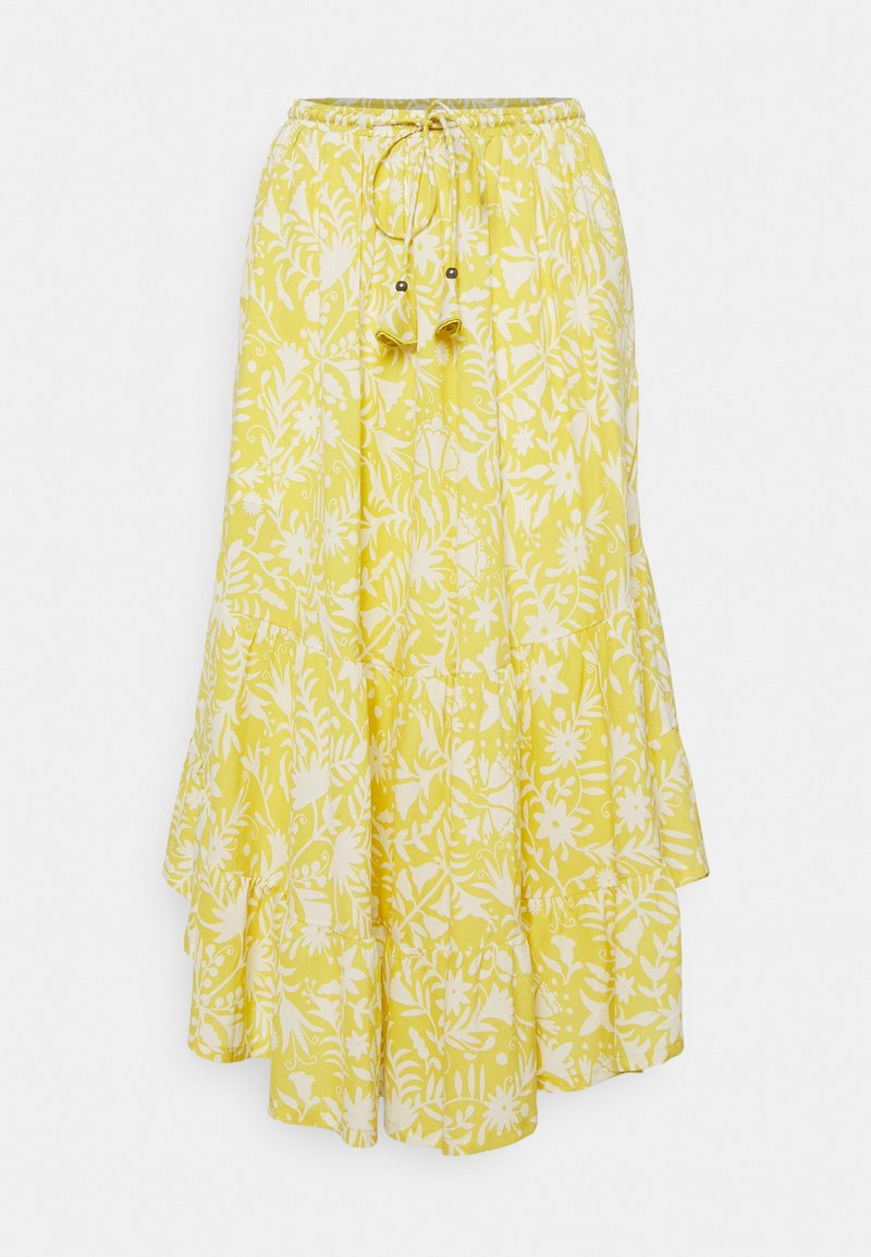 Thought - OTOMI TIERED SKIRT - A-line skirt - lemon yellow