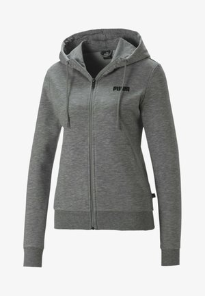 ESSENTIALS - Zip-up hoodie - light gray heather