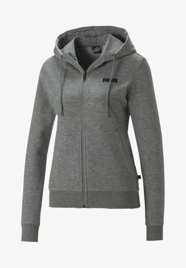 ESSENTIALS - veste en sweat zippée - light gray heather