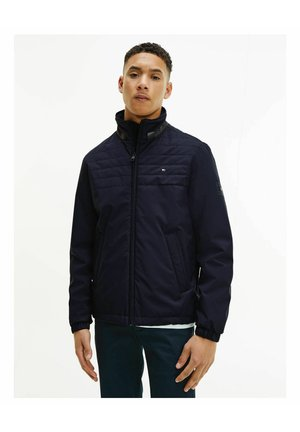 PADDED STAND COLLAR - Light jacket - marine