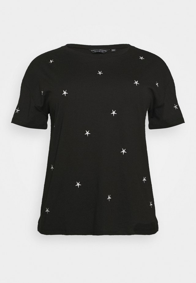 CURVE METALLIC STAR EMBELLISHED TEE - Print T-shirt - grey