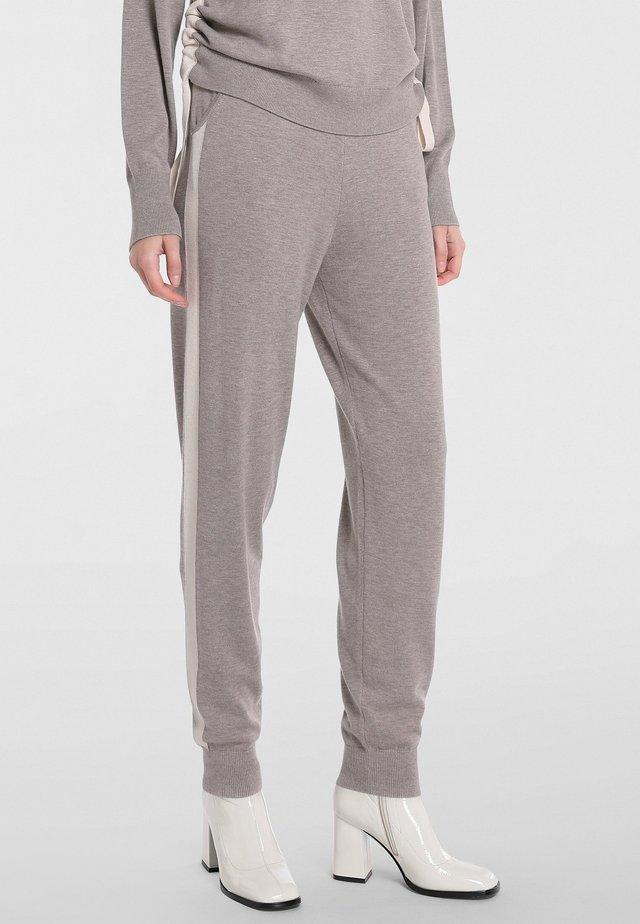 Pantaloni sportivi - taupe melange