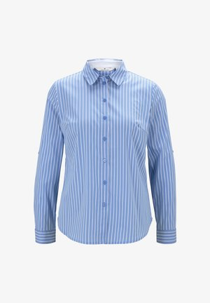 Hemdbluse - blue vertical thin stripe