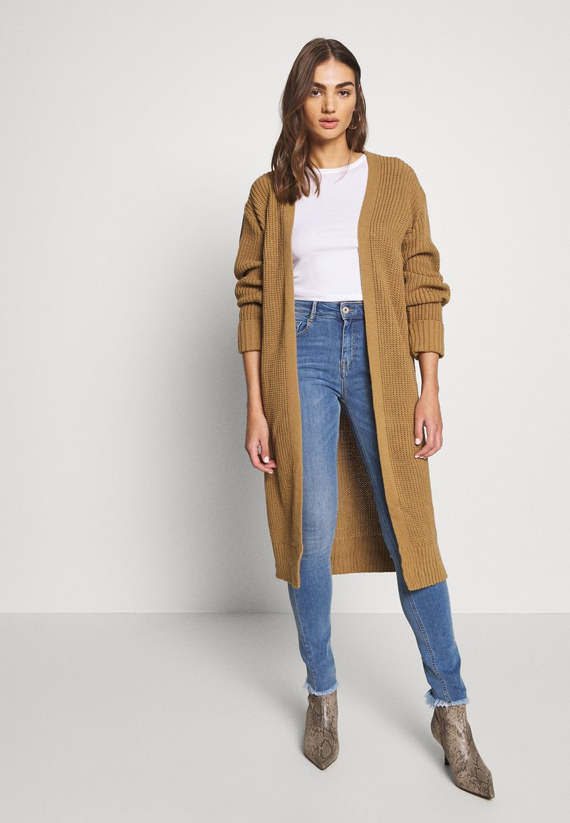New Look - TURNBACK CUFF - Cardigan - camel
