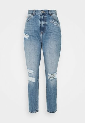 NORA CHAIN - Jeans Tapered Fit - blue jay chain ripped