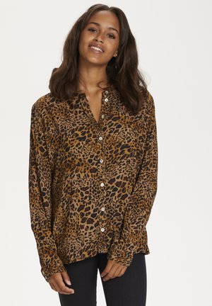KAJUSTINA PPP - Blouse - brown - leopard print