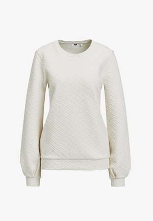 SWEATER MET STRUCTUUR - Long sleeved top - off-white