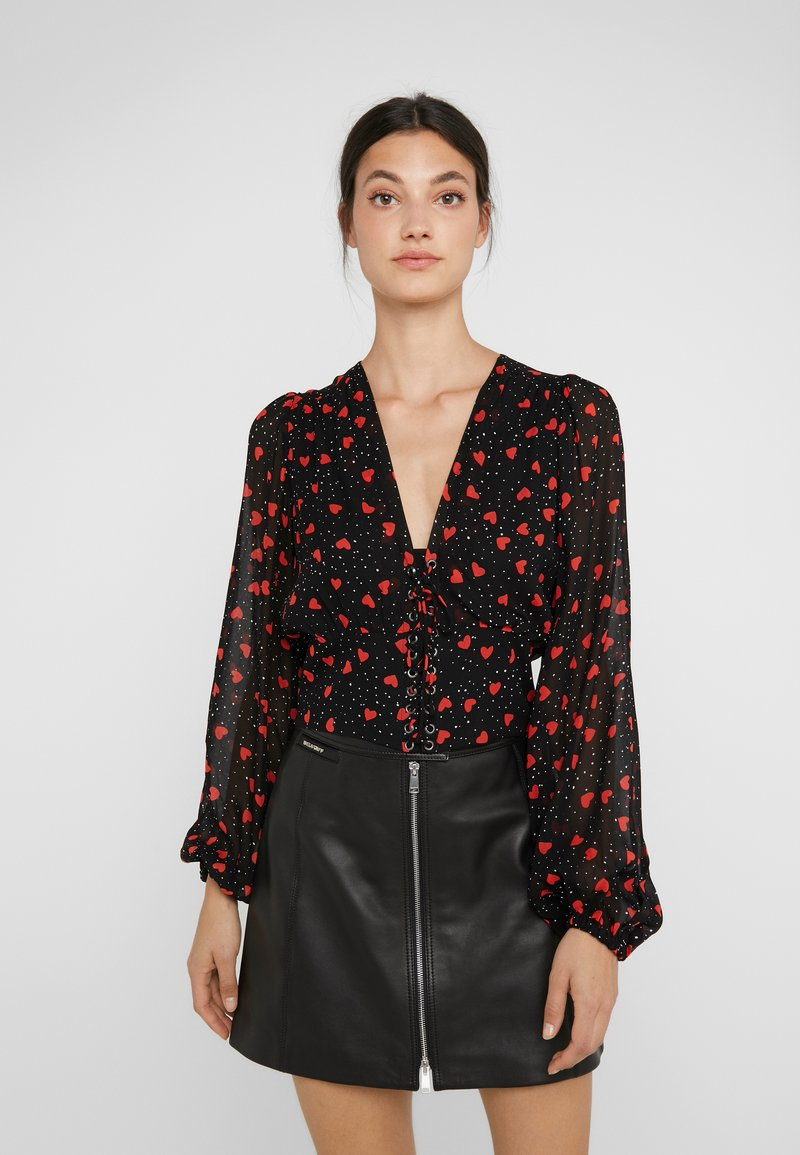 The Kooples - Blouse - black/red