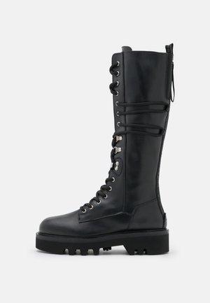 RITA ARMY HIGH BOOT - Stivali con i lacci - nero