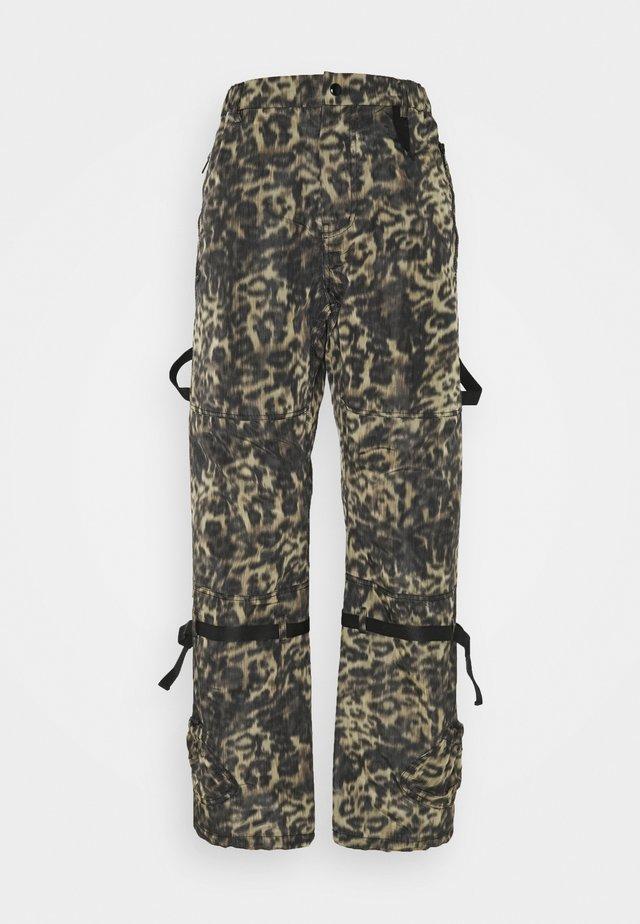 Pantalones - stampa fondo nero