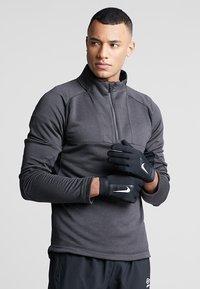 Nike Performance - ACADEMY HYPERWARM - Gloves - black/white/white - 0