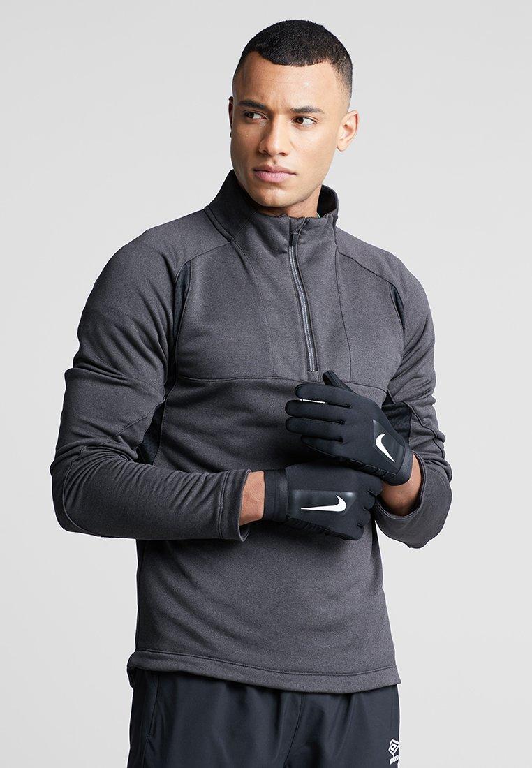 Nike Performance - ACADEMY HYPERWARM - Gloves - black/white/white