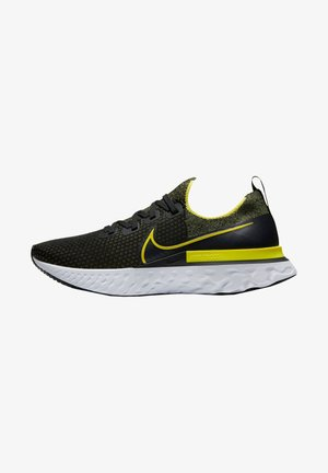 REACT INFINITY RUN FLYKNIT - Sports shoes - schwarz/gelb (703)