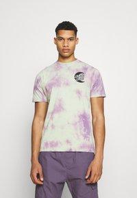 Santa Cruz - MOON DOT MONO UNISEX - T-shirt imprimé - lilac - 0