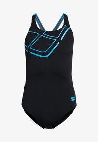 Arena - ESSENTIALS SWIM PRO BACK ONE PIECE - Swimsuit - black/turquoise - 4