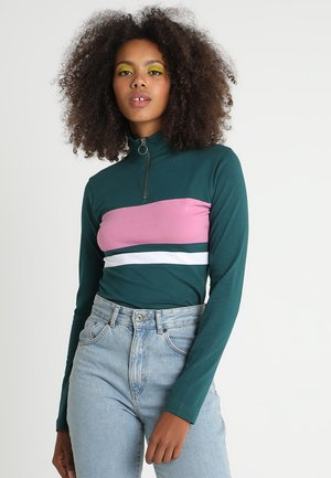 Long sleeved top - jasper/coolpink/white