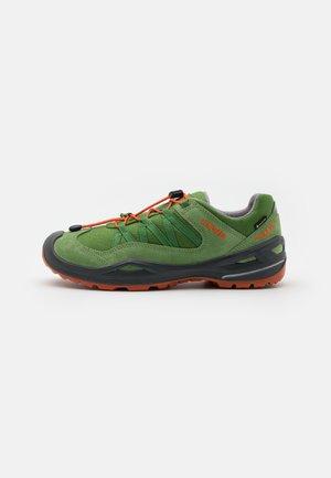 ROBIN GTX LO - Hiking shoes - grün/orange
