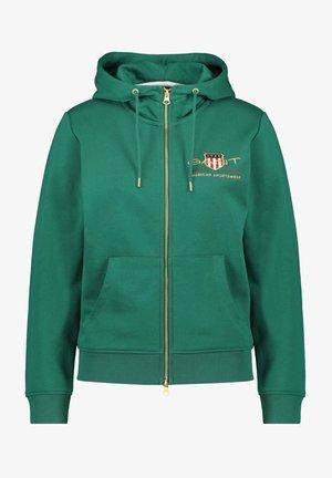 Zip-up hoodie - smaragd