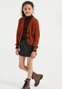 WE Fashion - Chaqueta de punto - rust brown - 1