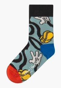 Happy Socks - DISNEY MICKEY MOUSE & FRIENDS SUNNY CREW 2 PACK - Socks - blue/yellow - 1