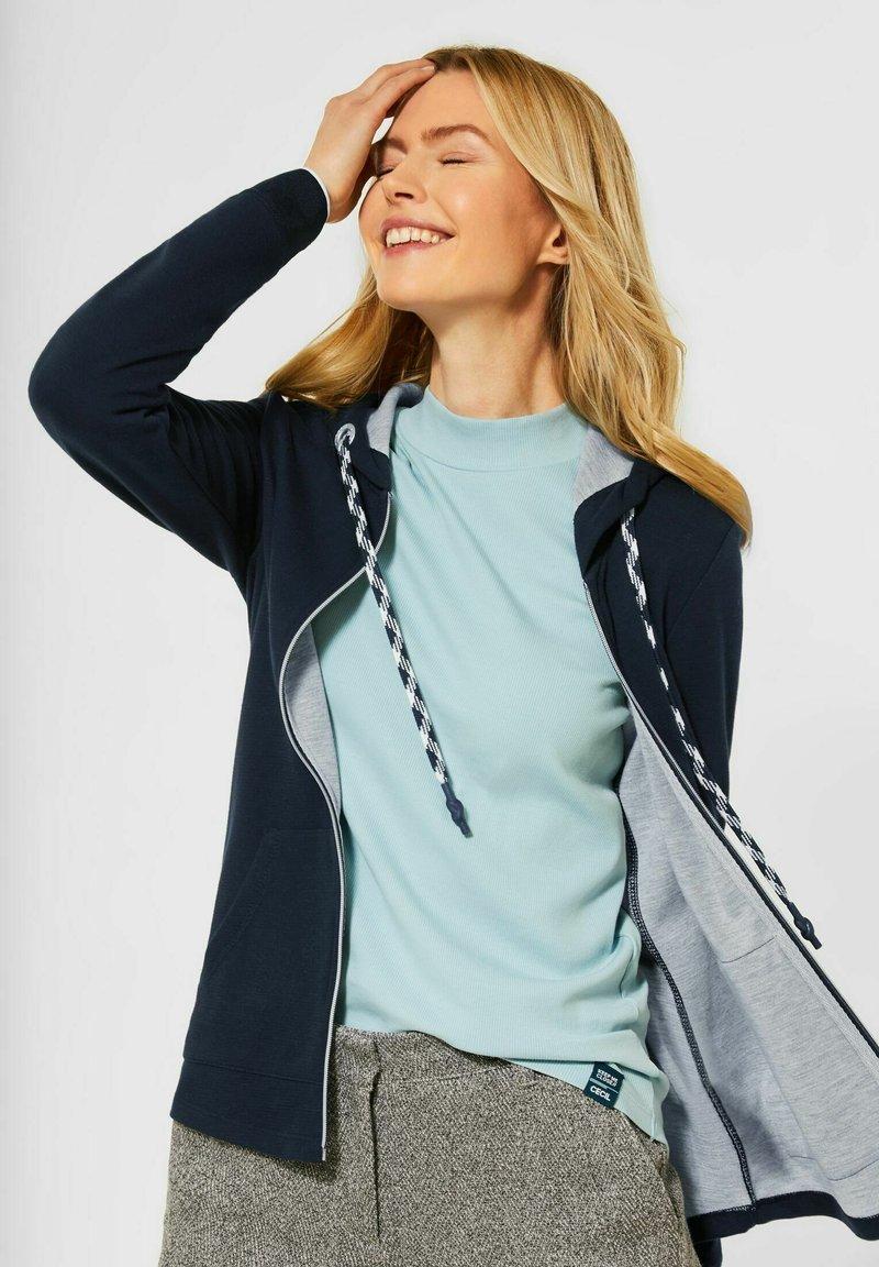 Cecil - MIT DOUBLEFACE - Zip-up hoodie - blau