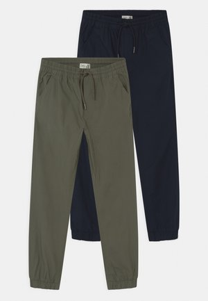 2 PACK - Trousers - hedge green/sky captain
