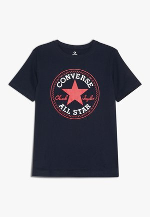 CORE CHUCK PATCH TEE  - Print T-shirt - obsidian/red
