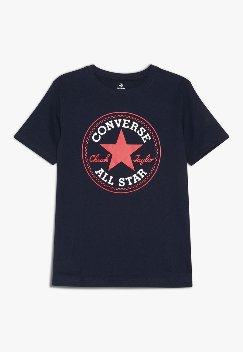 Converse - CORE CHUCK PATCH TEE  - T-shirt print - obsidian/red
