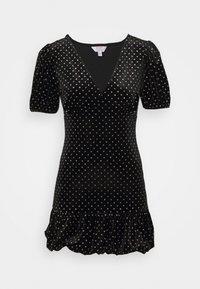 Miss Selfridge Petite - BUBBLE HEM MINI - Pouzdrové šaty - black - 0