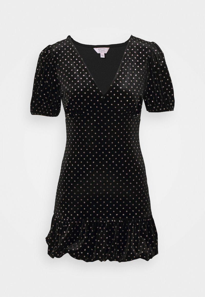 Miss Selfridge Petite - BUBBLE HEM MINI - Pouzdrové šaty - black