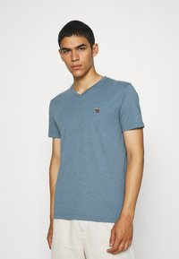 Abercrombie & Fitch - ICON 3 PACK - Basic T-shirt - burgundy/blue/green - 4