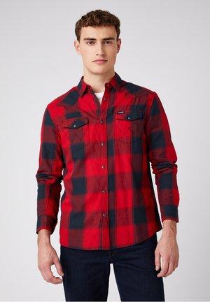 LS WESTERN - Shirt - red