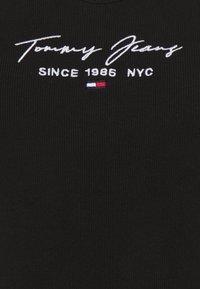 Tommy Jeans - SCRIPT STRAP BODY - Top - black - 2