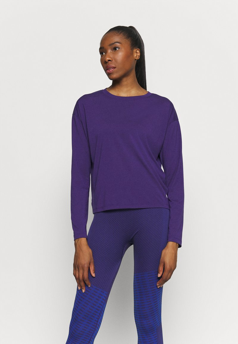Reebok - SUPREMIUM LONG SLEEVE - T-shirt sportiva - purple