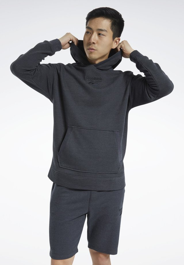 TRAINING ESSENTIALS MÉLANGE HOODIE - Hoodie - black
