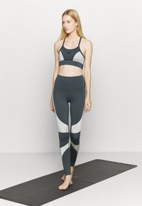 HIIT - HIGH SHINE PANEL LEGGING - Leggings - mid grey - 1
