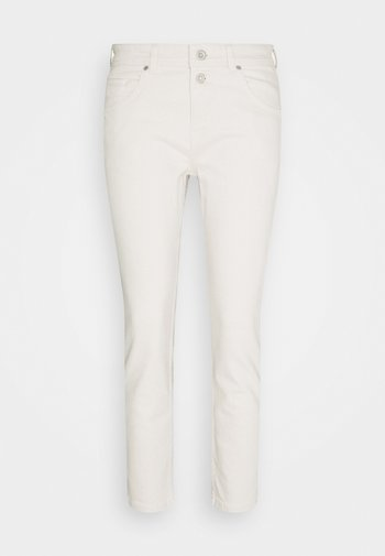 TROUSER MID WAIST BOYFRIEND - Jeans Tapered Fit - offwhite