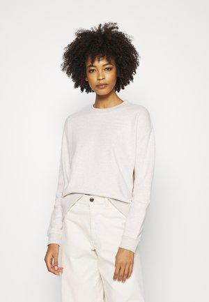 LONGSLEEVE ROUNDNECK PLACED PRINT - Sweatshirt - beige melange