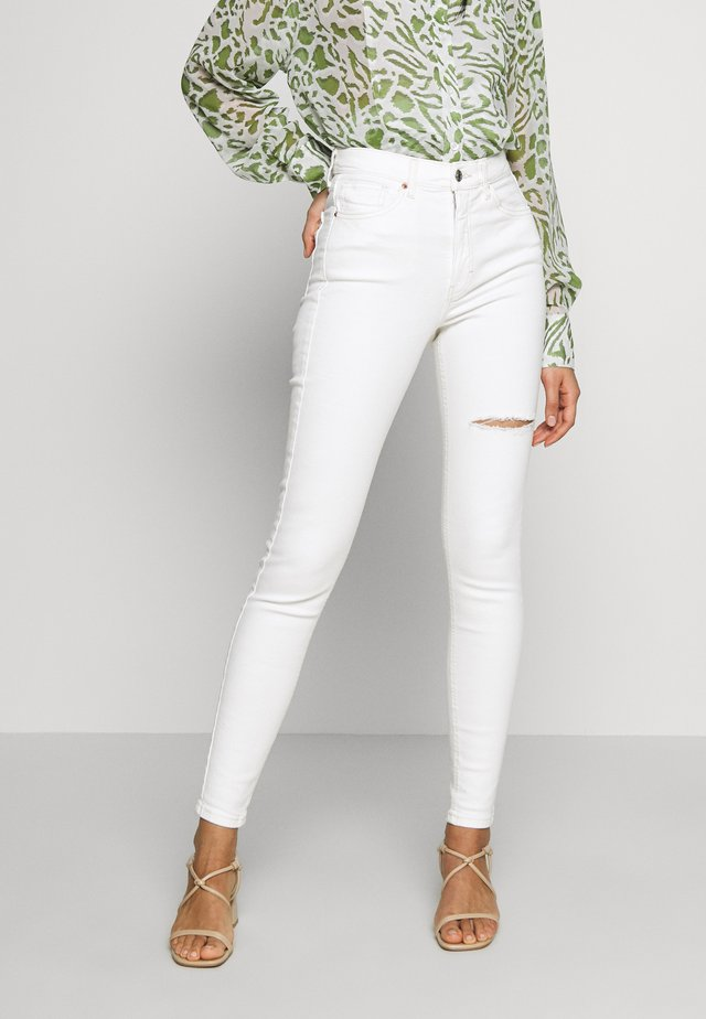 THIGH RIP JAMIE  - Jeans Skinny Fit - white