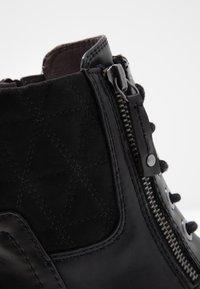Jana - Šněrovací kotníkové boty - black - 2