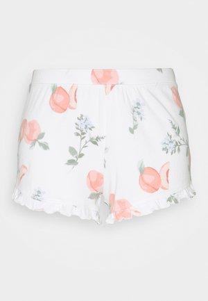 PRINTED COZY SHORT - Pyjamasbukse - white